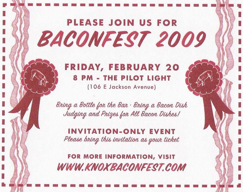 BaconFest Invite