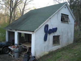 Southeast corner of garage