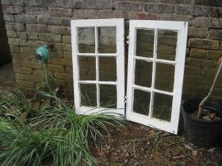 Salvaged casement windows